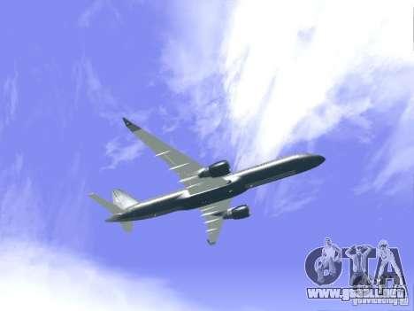 Boeing 757-200 United Airlines para GTA San Andreas vista hacia atrás