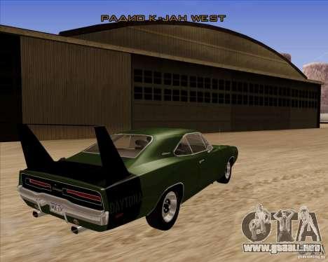 Dodge Charger Daytona 1969 para la visión correcta GTA San Andreas