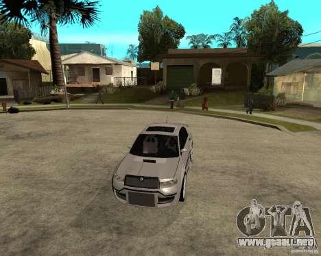 Skoda Superb Light Tuning para visión interna GTA San Andreas
