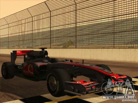 McLaren MP4-25 F1 para vista inferior GTA San Andreas