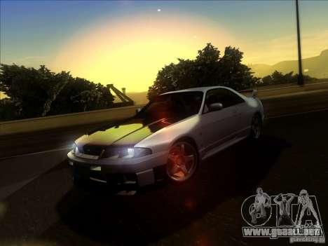 Nissan Skyline GTR BNR33 para visión interna GTA San Andreas