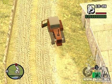 Tractor DT-75 cartero para la vista superior GTA San Andreas