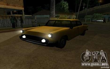Glendale Cabbie para GTA San Andreas vista hacia atrás