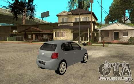 Volkswagen Polo 2011 para la visión correcta GTA San Andreas