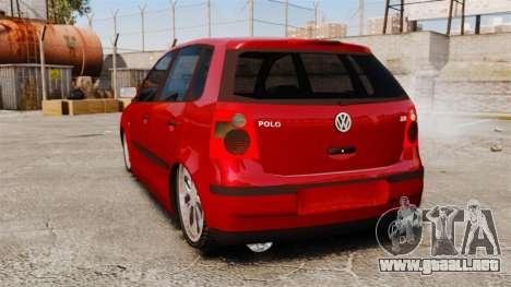 Volkswagen Polo Edit para GTA 4 Vista posterior izquierda