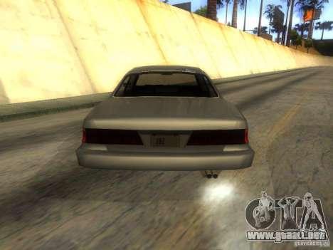 Merit Coupe para GTA San Andreas vista posterior izquierda