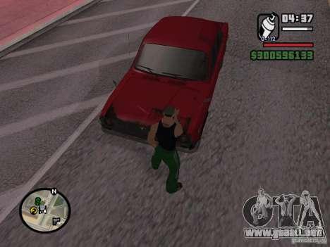 Repintado del actuador para GTA San Andreas sucesivamente de pantalla