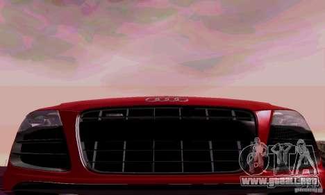 Audi R8 V10 Spyder 5.2. FSI para visión interna GTA San Andreas