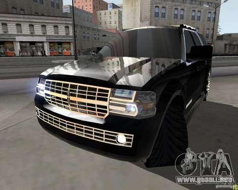 Lincoln Navigator para GTA San Andreas vista posterior izquierda