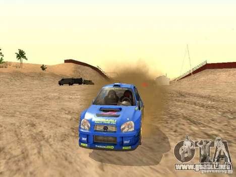 Subaru Impreza WRC 2003 para la visión correcta GTA San Andreas