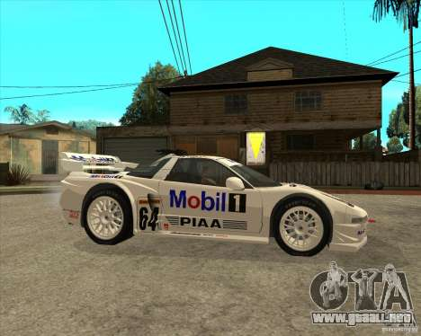 2001 Honda Mobil 1 NSX JGTC para la visión correcta GTA San Andreas