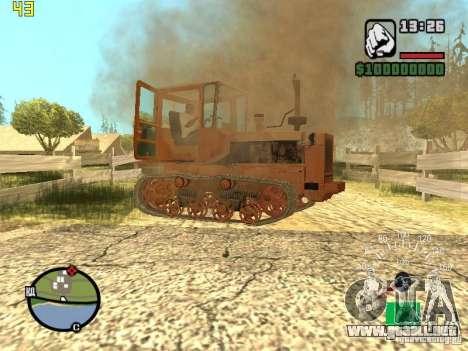 Tractor DT-75 cartero para vista inferior GTA San Andreas