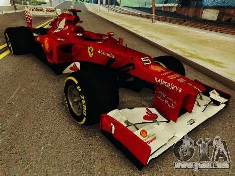 Ferrari F2012 para GTA San Andreas vista hacia atrás