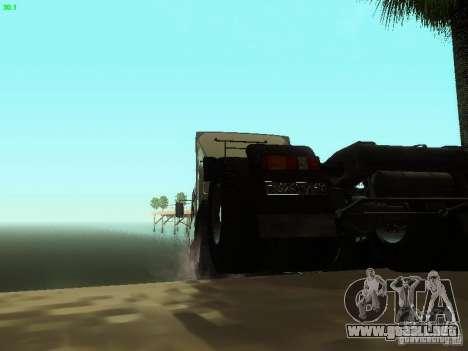 KAMAZ 6460 para GTA San Andreas vista hacia atrás
