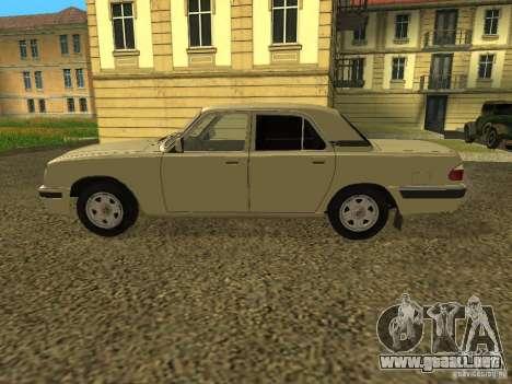Volga GAZ 31105 restyling para GTA San Andreas vista posterior izquierda