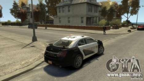 Ford Taurus Sheriff 2010 para GTA 4 left