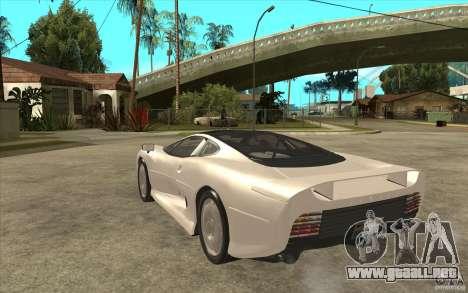 Jaguar XJ 220 para GTA San Andreas vista posterior izquierda
