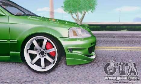 Honda Civic Si Sporty para GTA San Andreas vista posterior izquierda