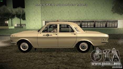 Taxi Volga GAZ-24 01 para GTA San Andreas left