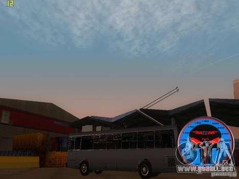 Trolebús LAZ-52522 para GTA San Andreas left