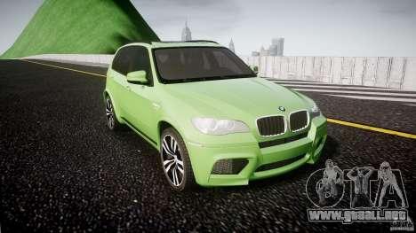 BMW X5 M-Power para GTA 4 vista hacia atrás