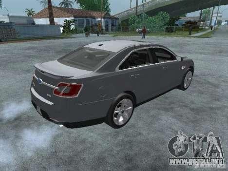 Ford Taurus para GTA San Andreas vista posterior izquierda