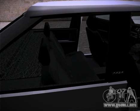 Lada Samara 2113 para visión interna GTA San Andreas
