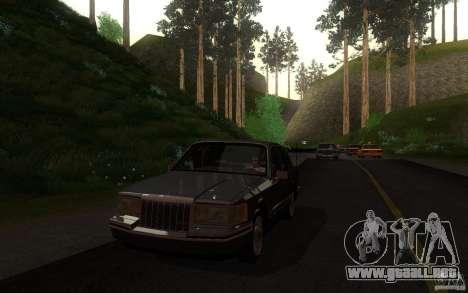 Lincoln Towncar 1991 para vista lateral GTA San Andreas