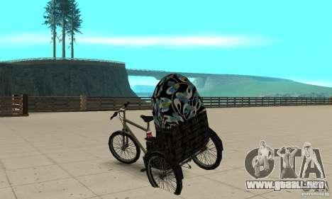 Manual Rickshaw v2 Skin3 para GTA San Andreas vista posterior izquierda