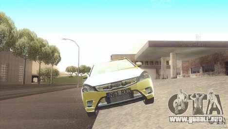 Kia Ceed para GTA San Andreas vista posterior izquierda