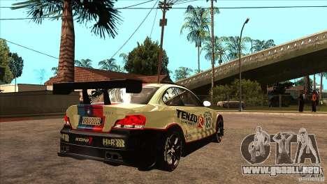 BMW 135i Coupe GP Edition Skin 1 para la visión correcta GTA San Andreas