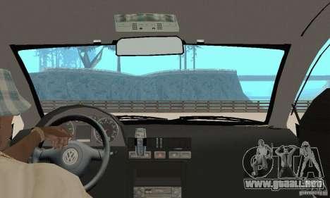 Volkswagen Bora Stock para GTA San Andreas vista hacia atrás