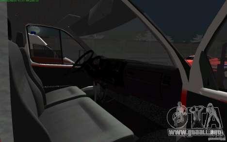 Ambulancia gacela 22172 para GTA San Andreas vista hacia atrás