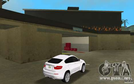 BMW X6M 2010 para GTA Vice City visión correcta