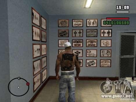 Nuevos tatuajes para GTA San Andreas sexta pantalla