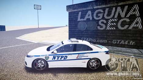Honda Accord Type R NYPD (City Patrol 7605) ELS para GTA 4 left
