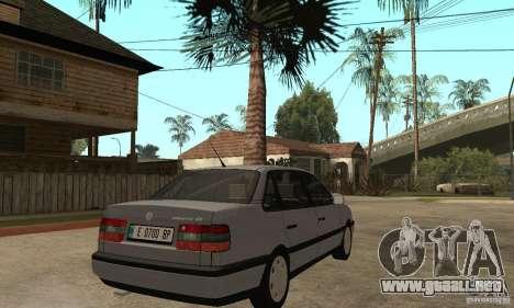 Volkswagen Passat B4 para la visión correcta GTA San Andreas