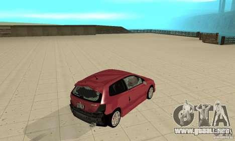 Honda Civic Type R - Stock + Airbags para la vista superior GTA San Andreas