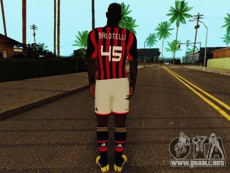 Mario Balotelli v1 para GTA San Andreas sucesivamente de pantalla