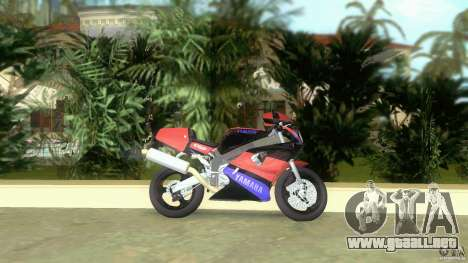 Yamaha FZR 750 black para GTA Vice City left