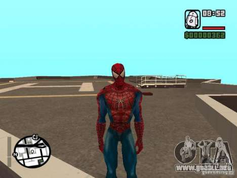 Spider Man From Movie para GTA San Andreas sucesivamente de pantalla