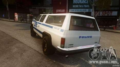 Declasse Yosemite Police para GTA 4 Vista posterior izquierda