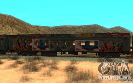New Graffity Train para GTA San Andreas left