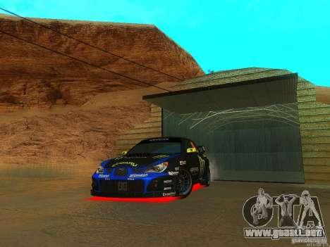 Subaru Impreza Gymkhana Practice para GTA San Andreas