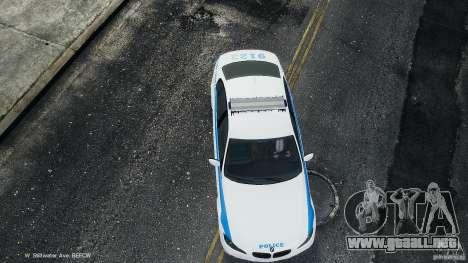 NYPD BMW 350i para GTA 4 vista interior