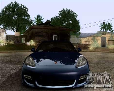 Porsche Panamera Turbo 2010 Final para visión interna GTA San Andreas