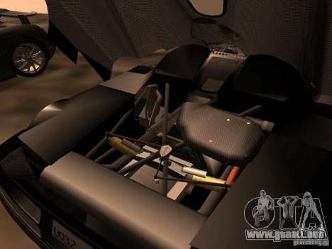Koenigsegg CCXR Edition para GTA San Andreas vista hacia atrás