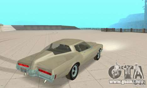 Buick Riviera 1972 Boattail para GTA San Andreas left