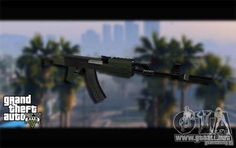 AK-47 con un silenciador de GTA 5 (Final) para GTA San Andreas