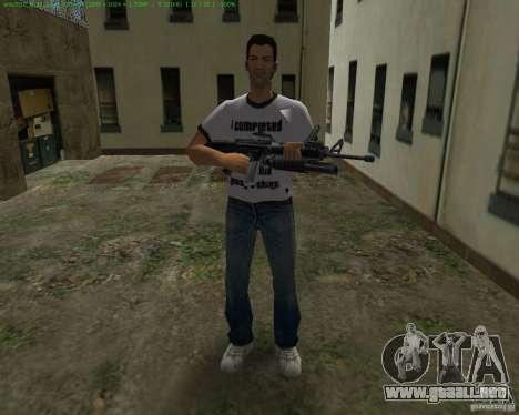 M-16 de Scarface para GTA Vice City sucesivamente de pantalla